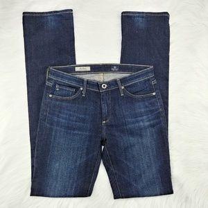 AG | The Alexa Mid-Rise Slim Boot dark wash jean